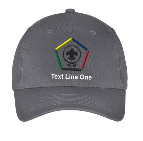 Port & Company® Six-Panel Twill Cap with Wood Badge Logo