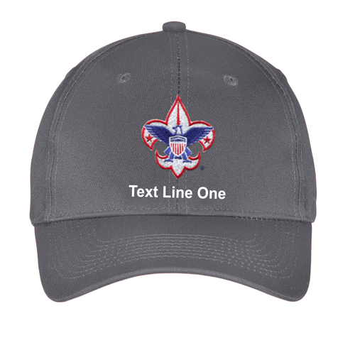 Port & Company® Six-Panel Twill Cap with Scouts BSA Corporate Logo