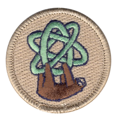 Atomic Sloth Scout Patrol Patch - embroidered 2 inch round