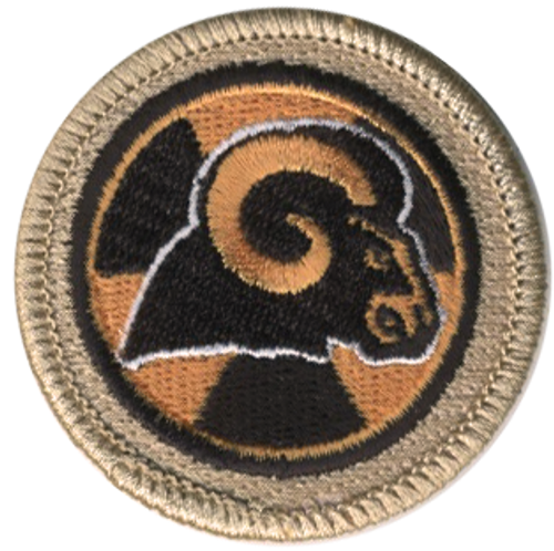 Radioactive Ram Scout Patrol Patch - embroidered 2 inch round
