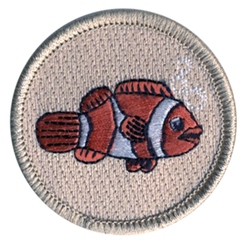 Clownfish Scout Patrol Patch - embroidered 2 inch round