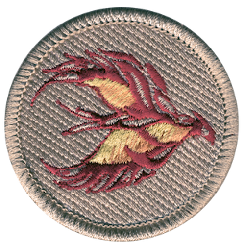 Blazing Phoenix Scout Patrol Patch - embroidered 2 inch round