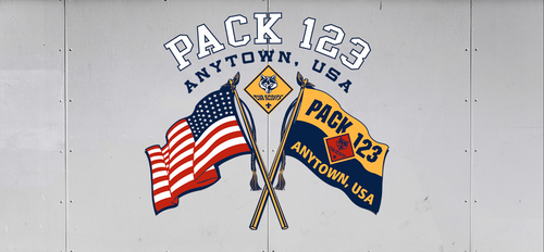 Cub Scout Pack Trailer Graphic With Flags Design