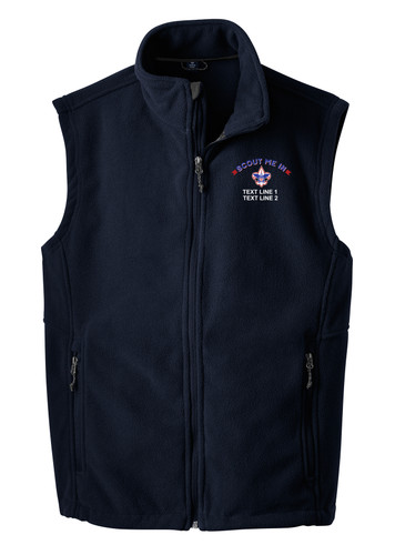 Port Authority® Fleece Vest with Scout Me In Corporate Logo