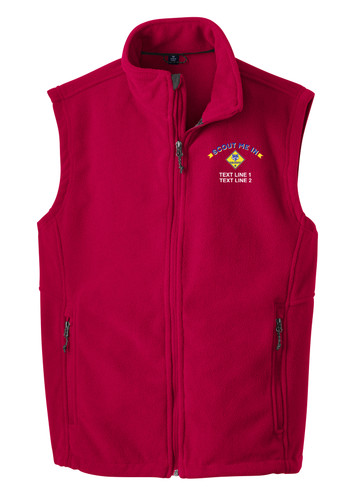 BSA Scout Me In Vest with Scout Me In Logo - Red