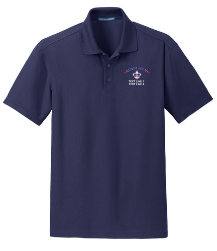 BSA Scout Me In Polo with Scout Me In Logo - Navy