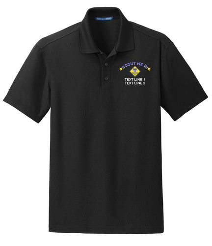 BSA Scout Me In Polo with Scout Me In Logo - Black