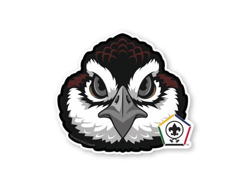 Wood Badge Sticker of Wood Badge Bobwhite with Wood Badge Logo