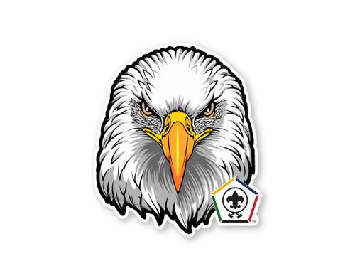 Wood Badge Sticker of Wood Badge Eagle with Wood Badge Logo