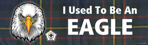 Wood Badge Bumper Sticker with Wood Badge Eagle Critter and Wood Badge logo