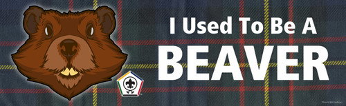 Wood Badge Bumper Sticker with Wood Badge Beaver Critter and Wood Badge logo