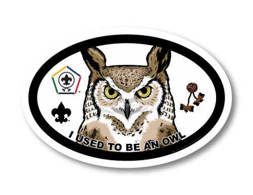 Wood Badge Magnet with Wood Badge Owl and Wood Badge Logo