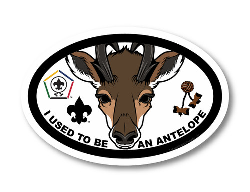 Wood Badge Magnet with Wood Badge Antelope and Wood Badge Logo