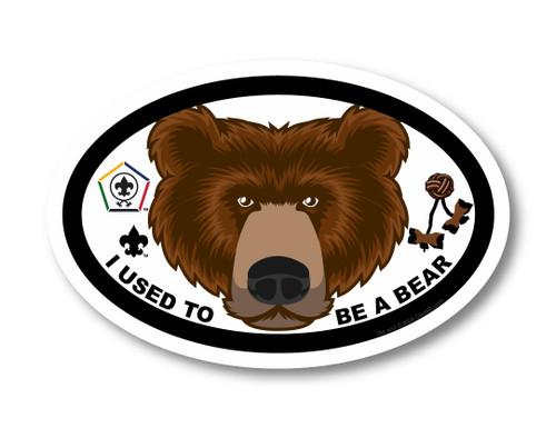 Wood Badge Magnet with Wood Badge Bear and Wood Badge Logo