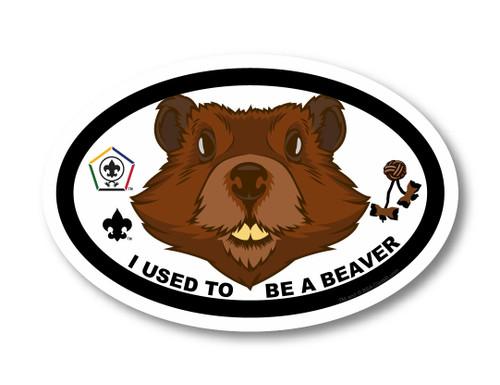 Wood Badge Magnet with Wood Badge Beaver and Wood Badge Logo