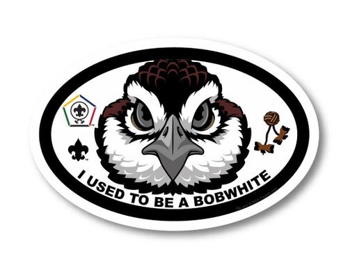 Wood Badge Magnet with Wood Badge Bobwhite and Wood Badge Logo