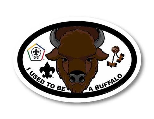 Wood Badge Magnet with Wood Badge Buffalo and Wood Badge Logo
