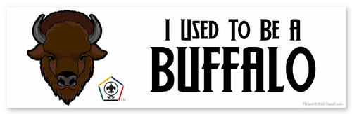 Wood Badge Bumper Sticker with Wood Badge Buffalo Critter and Wood Badge Logo