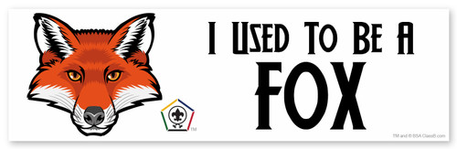 Wood Badge Bumper Sticker with Wood Badge Fox Critter and Wood Badge Logo