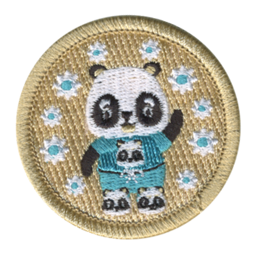 Panda Pajama Scout Patrol Patch - embroidered 2 inch round