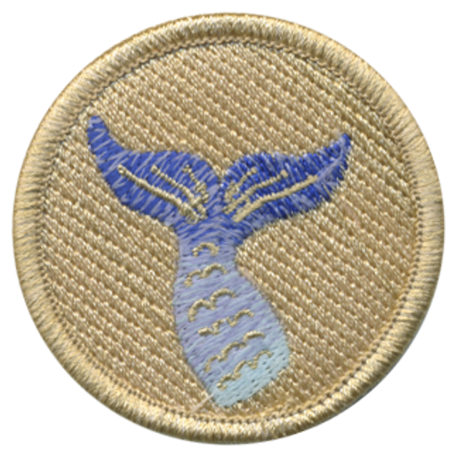 Mermaid Scout Patrol Patch - embroidered 2 inch round