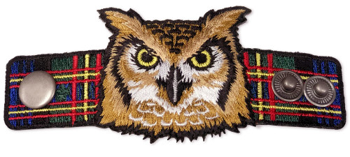 Wood Badge Neckerchief Slider with Wood Badge Owl Critter