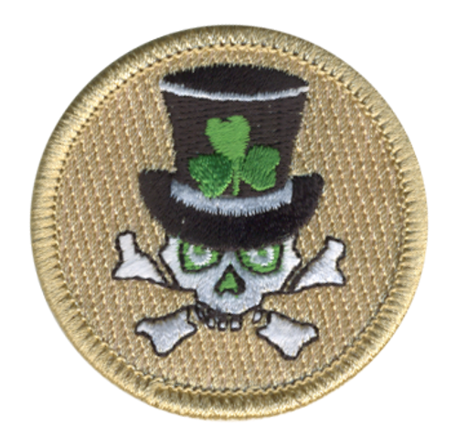 Shamrock Skull and Bones Patrol Patch