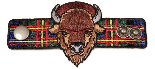 Wood Badge Neckerchief Slider with Wood Badge Buffalo Critter