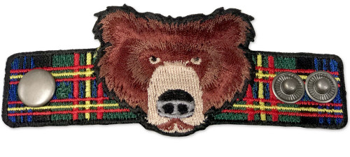 Wood Badge Neckerchief Slider with Wood Badge Bear Critter