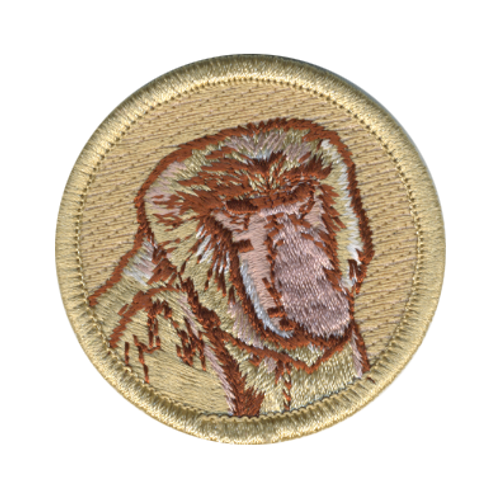 Proboscis Monkey Scout Patrol Patch - embroidered 2 inch round