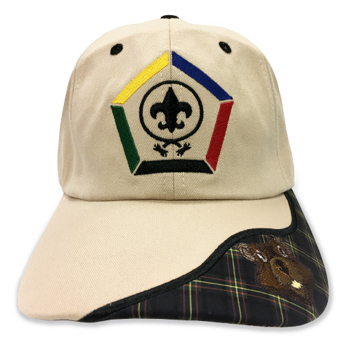 Wood Badge Hat with Wood Badge Logo and Wood Badge Beaver Critter - Front View