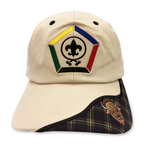 Wood Badge Hat with Wood Badge Logo and Wood Badge Buffalo Critter - Front View