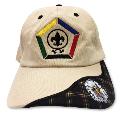 Wood Badge Hat with Wood Badge Logo and Wood Badge Eagle Critter -  Front View