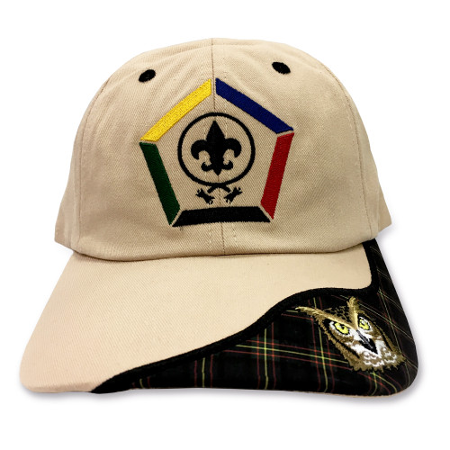 Wood Badge Hat with Wood Badge logo and Wood Badge Owl Critter- Front View