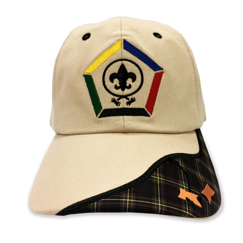 Wood Badge Hat with Wood Badge logo and Wood Badge Two Beads - Front View