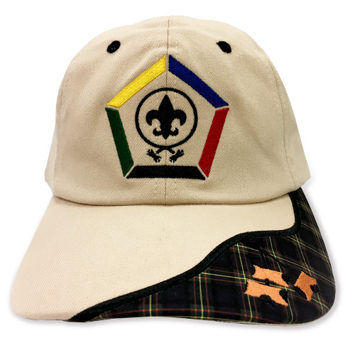 Wood Badge Hat with Wood Badge logo and Wood Badge Three Beads - Front View