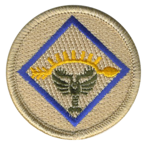 Lobster of Light Scout Patrol Patch - embroidered 2 inch round