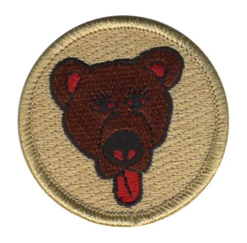 Belligerent Bear Scout Patrol Patch - embroidered 2 inch round