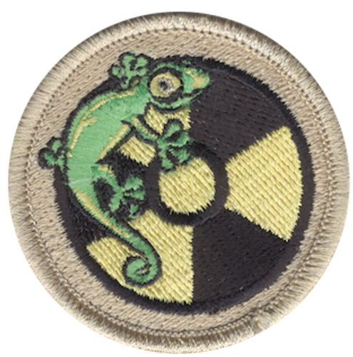 Atomic Lizard Scout Patrol Patch - embroidered 2 inch round