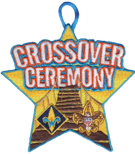 Cub Scout Crossover Ceremony Patch with Webelos Rank and BSA Logo