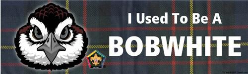 Old Logo Wood Badge Bobwhite Tartan Bumper Sticker (SP5052)
