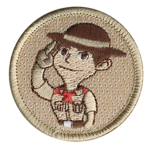 Cartoon Scoutmaster Scout Patrol Patch - embroidered 2 inch round