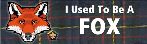 Old Logo Wood Badge Fox Tartan Bumper Sticker (SP5051)
