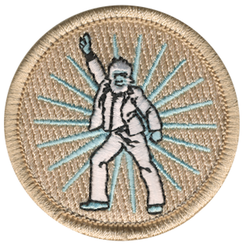 Dancing Yeti Scout Patrol Patch - embroidered 2 inch round