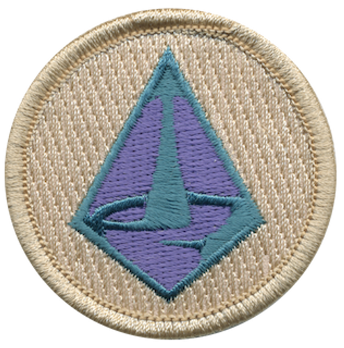 Diamond Waterfall Scout Patrol Patch - embroidered 2 inch round