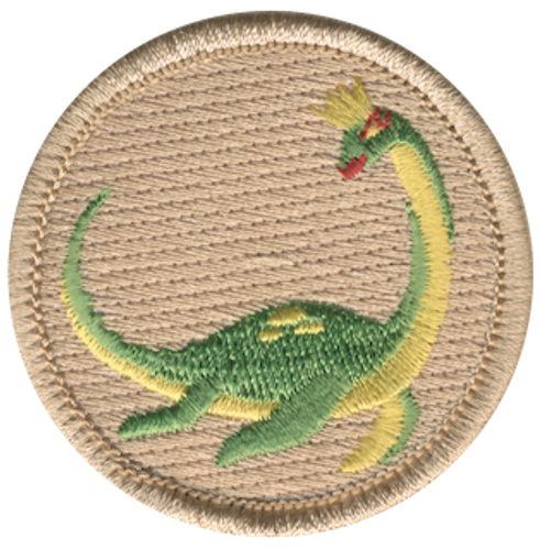 Lochness Monster Queen Scout Patrol Patch - embroidered 2 inch round