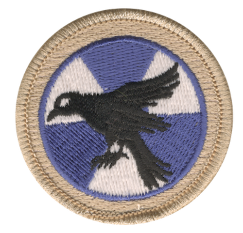 Nuclear Raven Scout Patrol Patch - embroidered 2 inch round