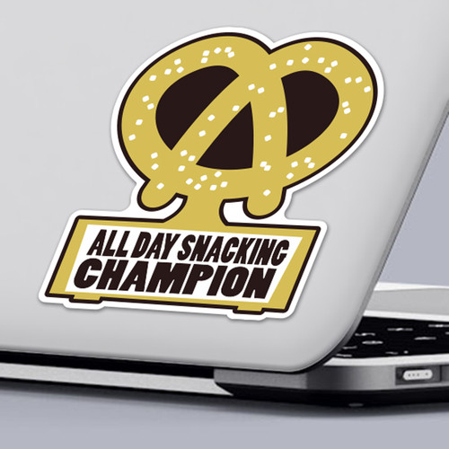 Funny 2020 Quarantine Sticker All Day Snacking Champion Sticker Design