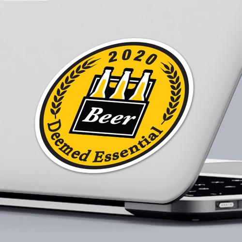 Funny 2020 Quarantine Sticker Deemed Essential Beer Sticker Design