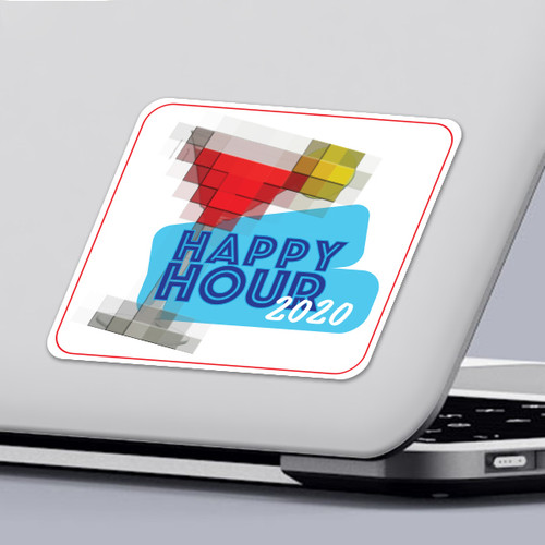 Funny 2020 Quarantine Sticker Virtual Happy Hour Sticker Design